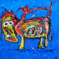 Angry cow 50x50